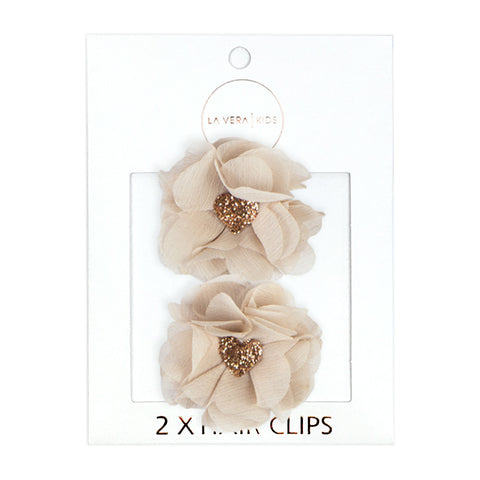 4x HAIR CLIPS | WHITE + IVORY