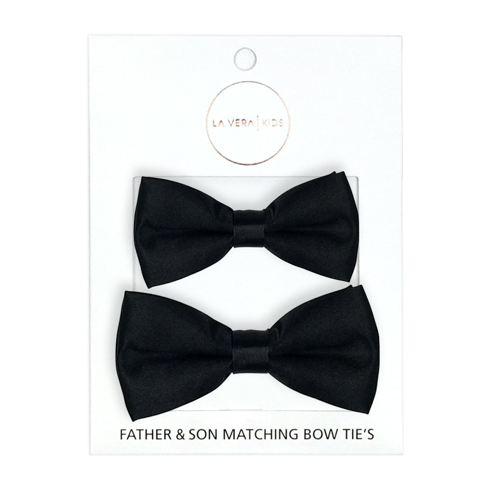 Father + Son Matching Faux Leather Bow Ties