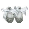 CRYSTAL BABY GIRL SHOES | BLACK