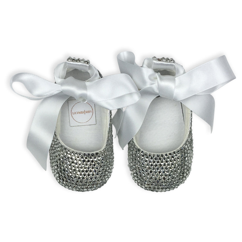 Crystal Baby Girl Shoes - Clear