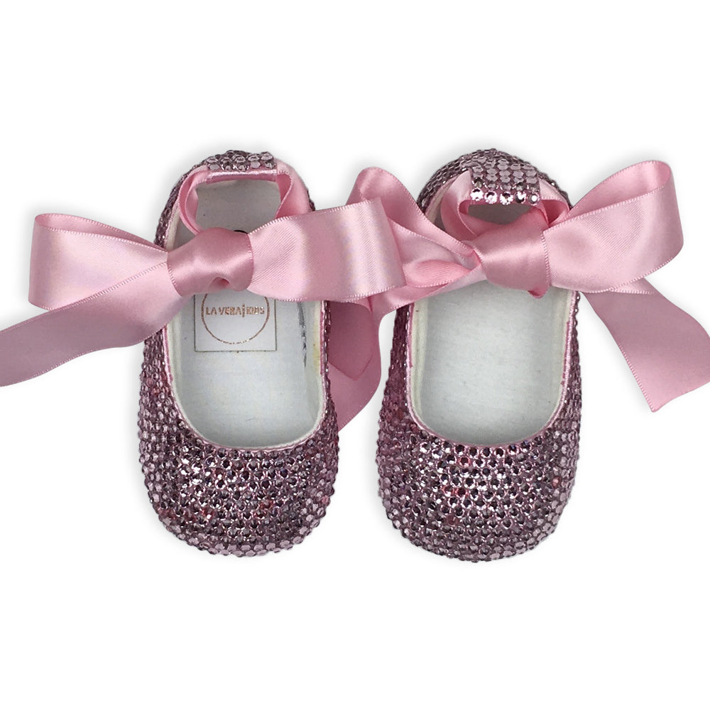 Crystal Baby Girl Shoes - Pink