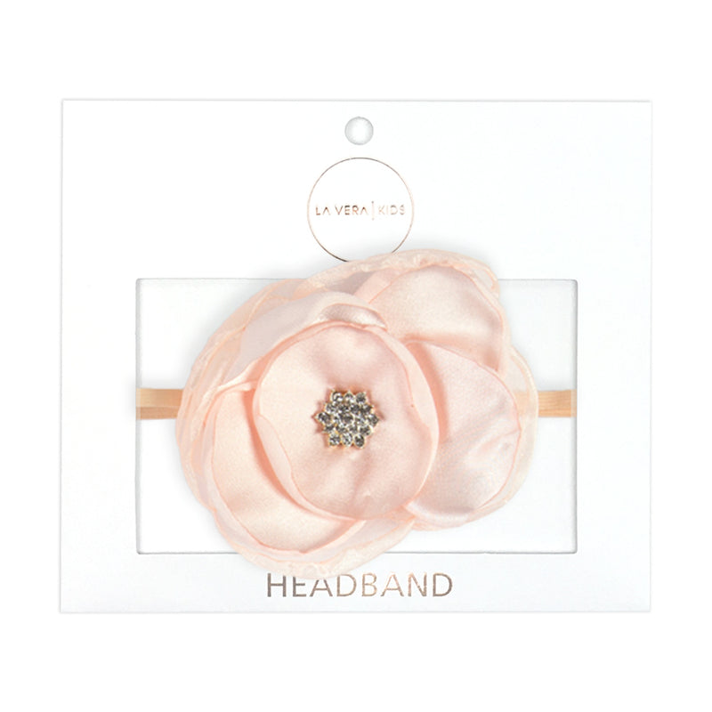 Girls Apricot Flower Headband