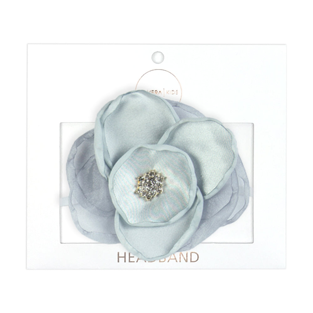 GIRLS SILVER FLOWER HEADBAND