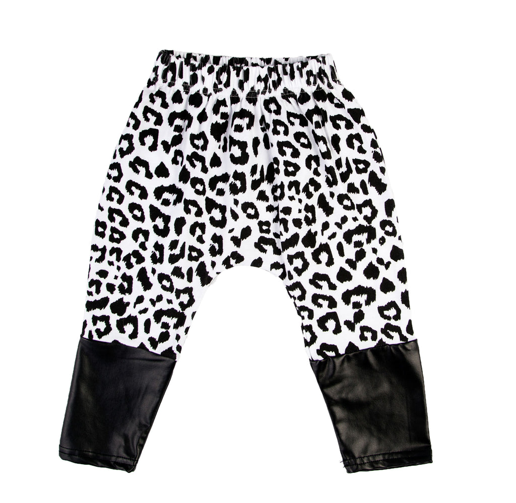 Kids Leopard Monochrome Pants
