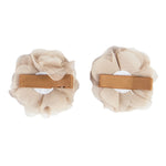 2x HAIR CLIPS PERSONALISED (LETTER) - MOCHA