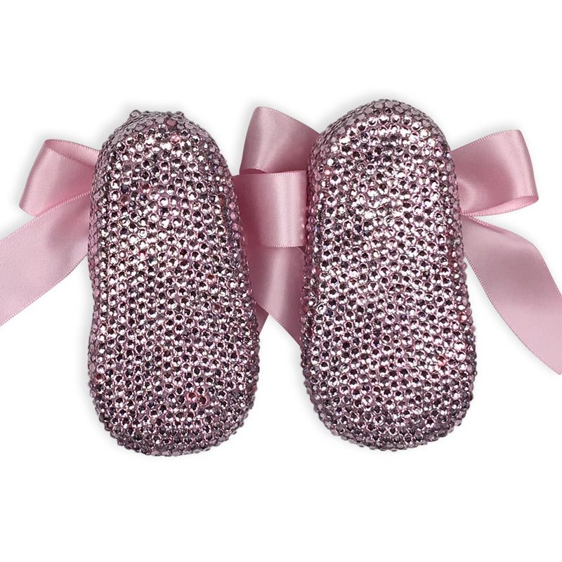 CRYSTAL BABY GIRL SHOES | PINK