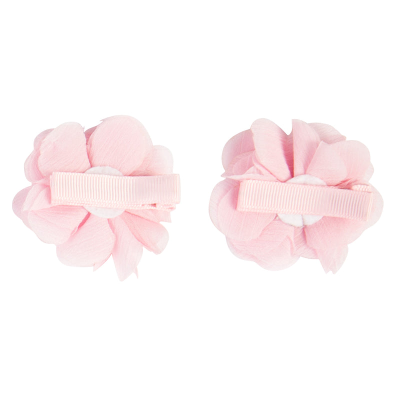4x HAIR CLIPS | WHITE + PINK