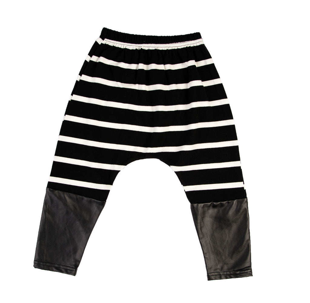 Kids Stripe Black White Pants