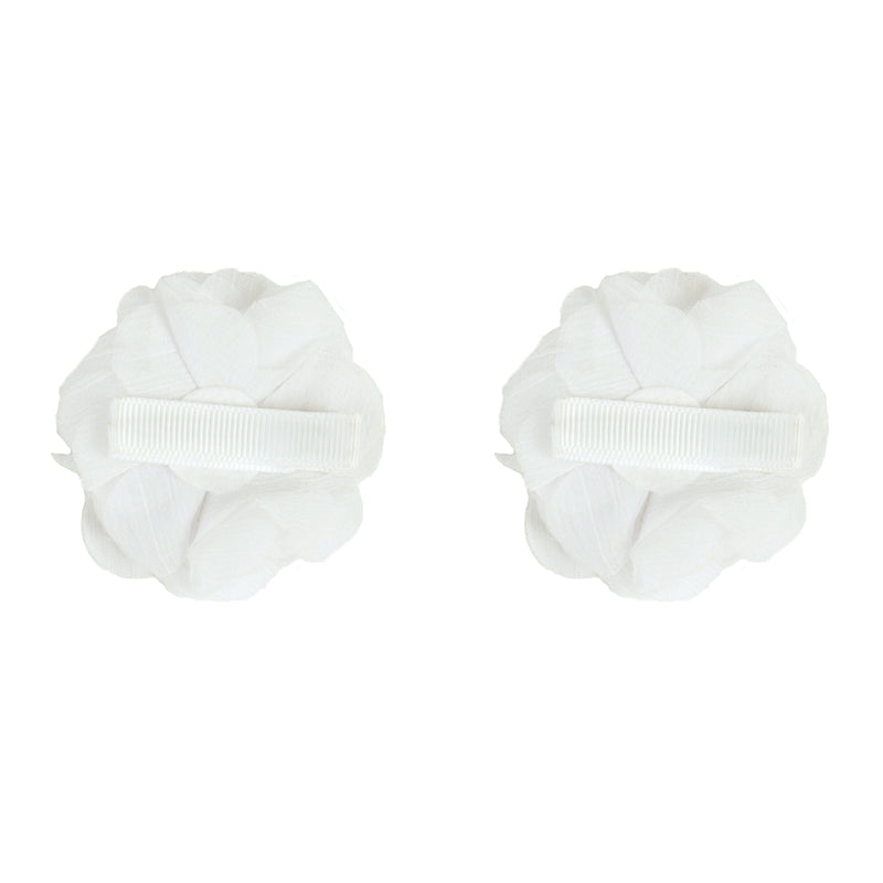 2x HAIR CLIPS | WHITE