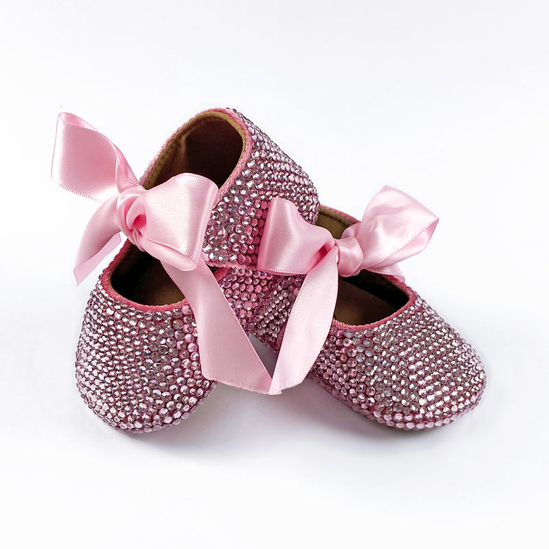 BABY GIRL CRYSTAL SHOES | PINK