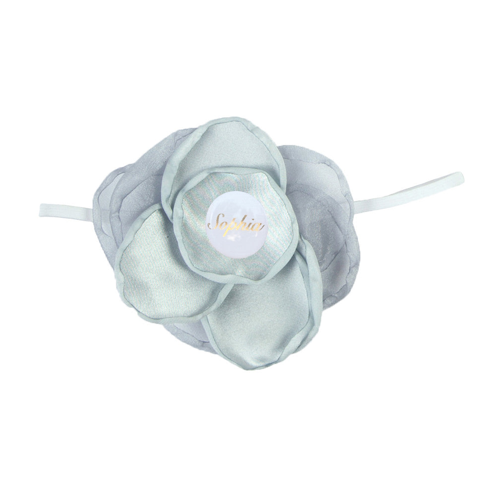 PERSONALISED (NAME) GIRLS HEADBAND - GREY
