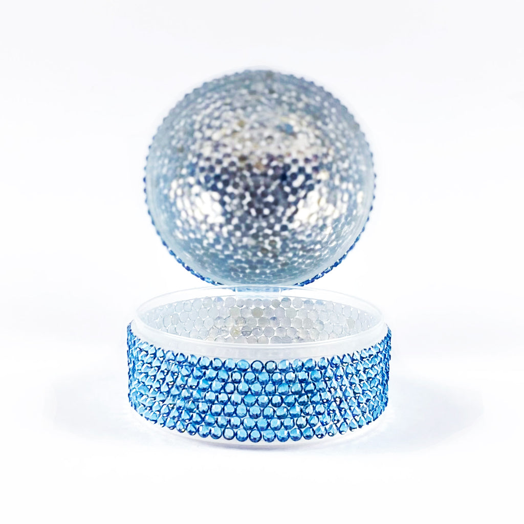 CRYSTAL PACIFIER BOX - BLUE
