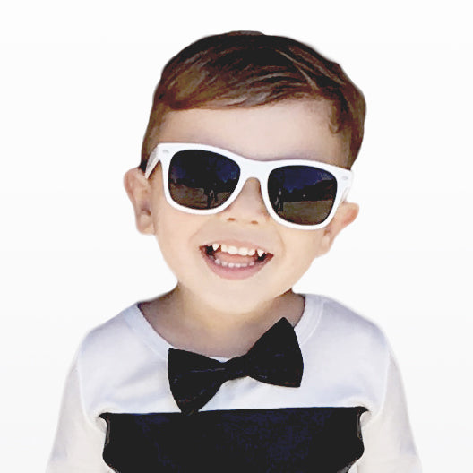 BOYS FAUX LEATHER BOW TIE