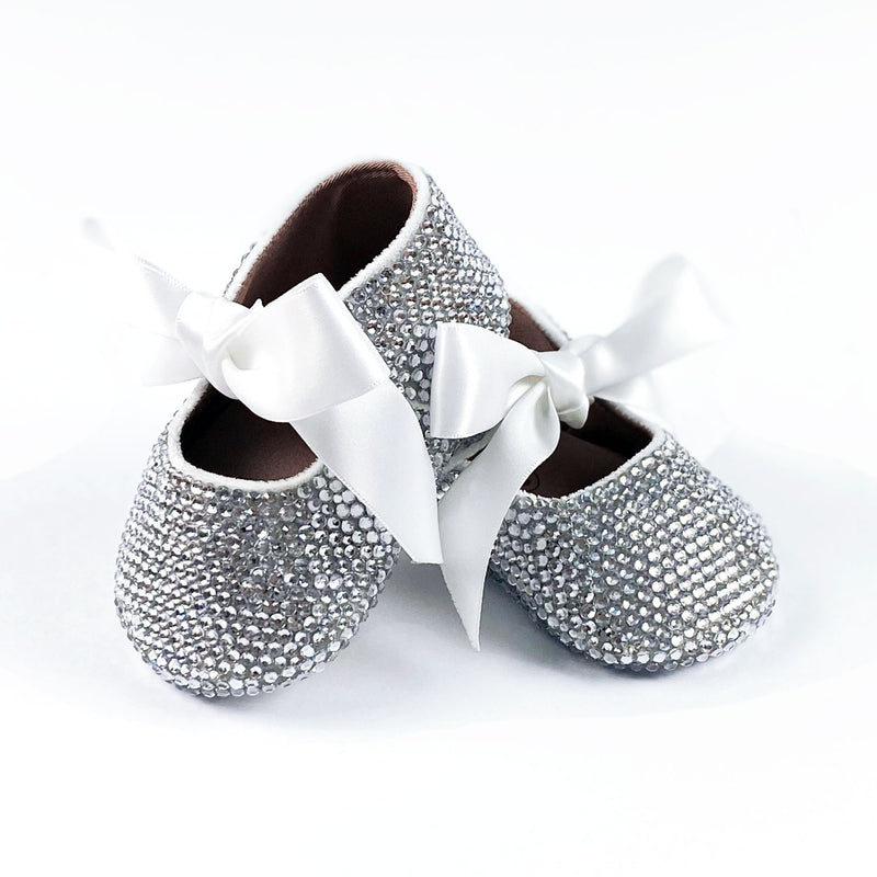 BABY GIRL CRYSTAL SHOES | CLEAR