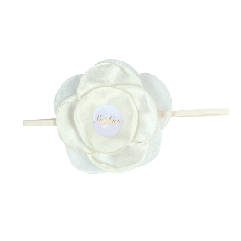 PERSONALISED (NAME) GIRLS HEADBAND - IVORY