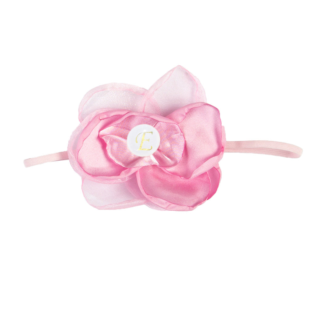 PERSONALISED (LETTER) GIRLS HEADBAND - PINK