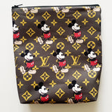 Mickey LV Inspired Planner Pouch