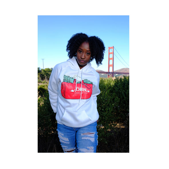 WHITE MAKING MONEY MOVES INSCRIPTION soft  hoodie
