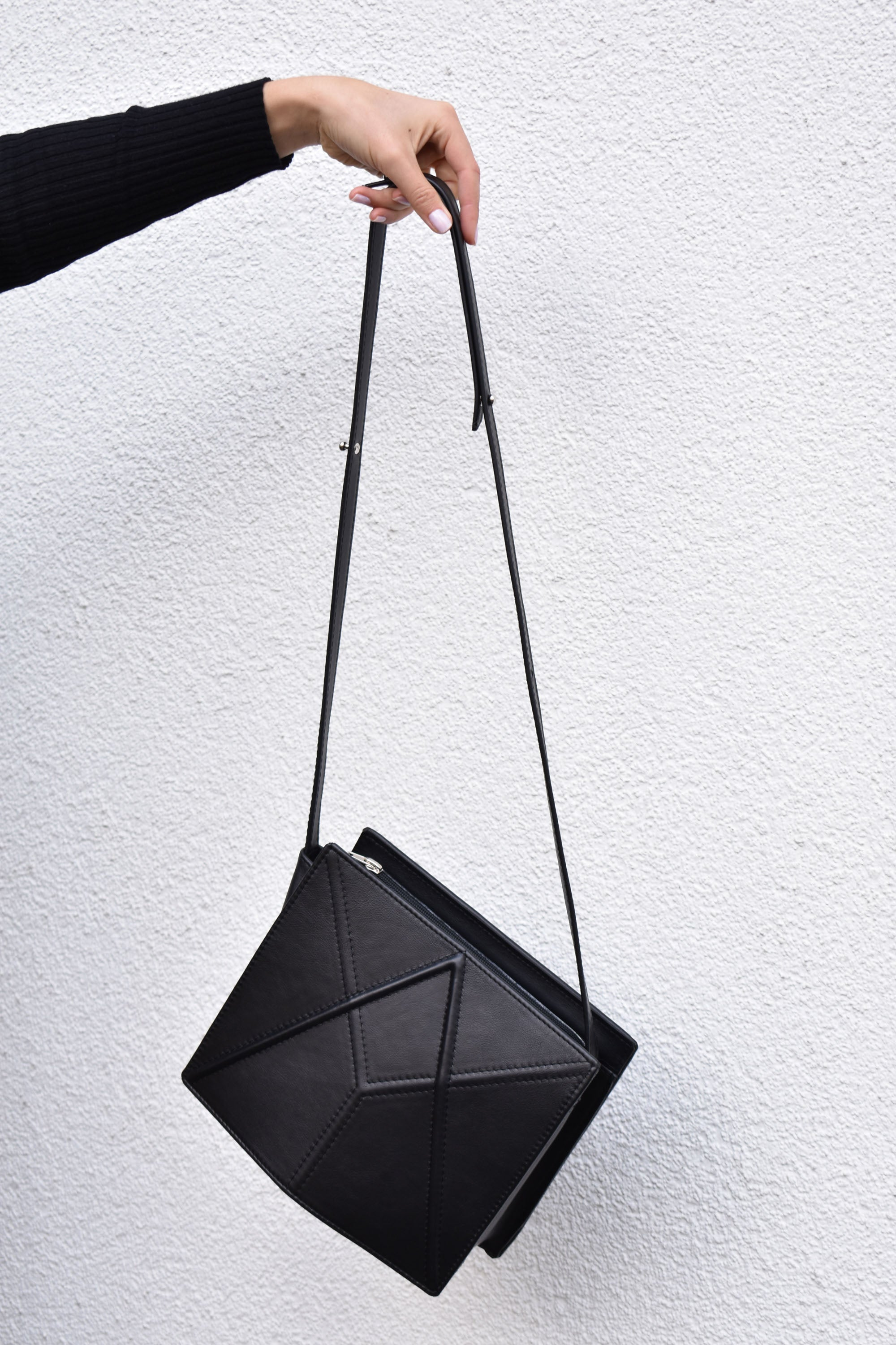 Facet shoulder bag