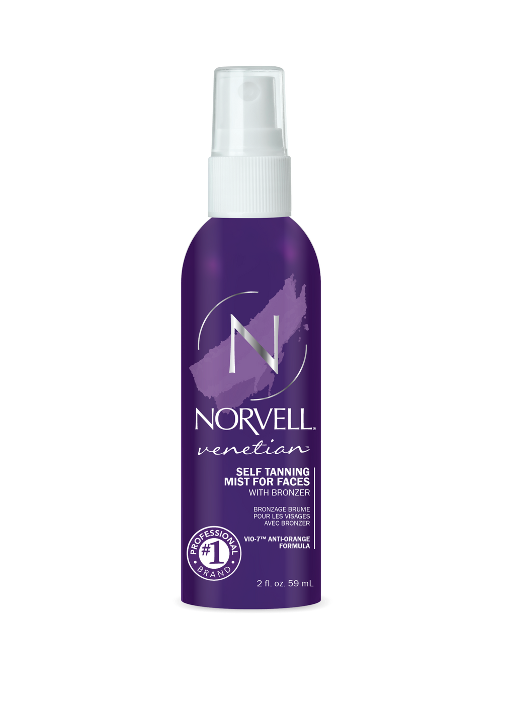 Norvell Venetian 4-Faces Sunless Facial Self-Tanning & Touch-up Spray, 2 fl.oz