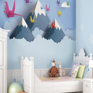 Snow capped mountains and flying birds can all be found here in our wall mural shop