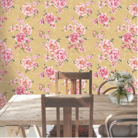 Ditsy Floral Pattern in Mustard