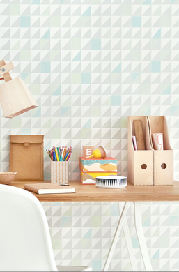 This beautiful geometric styled wallpaper will add class and glamour to any bedroom or nursery.