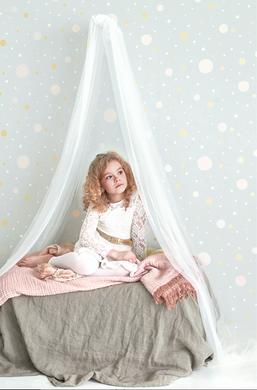 Soft, subtle and dreamy. Perfect Wallpaper for many room, including nursery and children's rooms.