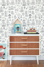 This fun and vibey wallpaper will add to any kid's room or nursery.