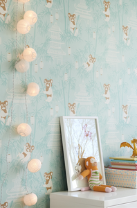 Gorgeous koala and bambu tree design to brighten up any room. Such fun for a nursery or playroom.