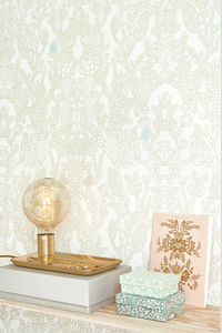 This gorgeous pattern with the subtle little bird adds glamour and intrigue.