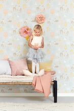 This eco-friendly Swedish wallpaper with its charming design and colours will make any childrens' room or baby nursery a sanctuary.