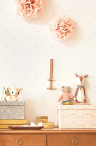 This stunning wallpaper is simple yet so effective. Perfect for your little girl's room or nursery.