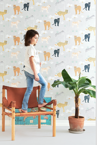 This awesome Jungle scene wallpaper design is sure to really stand out in any room.
