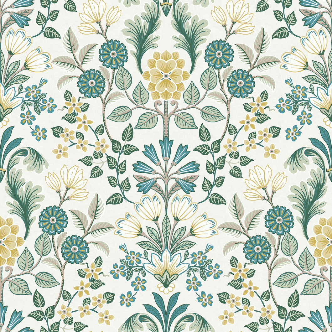 Geometric Floral Design on white
