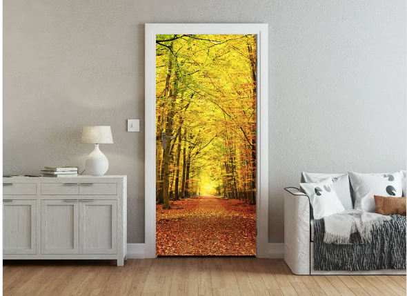 Autumn Leaves Ready Made Door Mural