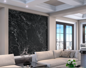 this black marble wallpaper Australia design will add an element of style and class to any wall - great for a kitchen, lounge, or home office.