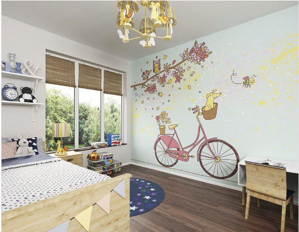 Care Free Day Ready Made Wall Mural