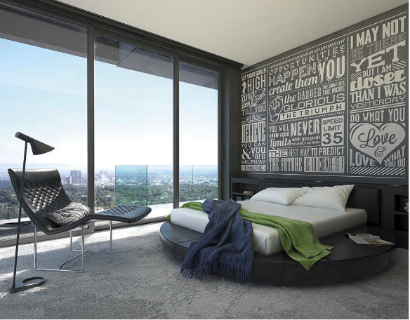 This wallpaper quotes mural design is a collection of creative fonts, simple colour palette and inspirational sayings combine in this design to create a stunning design with real meaning.
