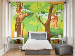 Cheeky Monkeys Ready Made Wall Mural