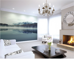 This stunning yet simple wall mural design just radiates peace and calm in a scene straight from nature. Simply stunning.