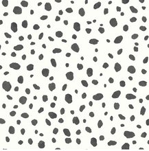 Black and White spotty wallpaper is ideal for adding a monochrome theme