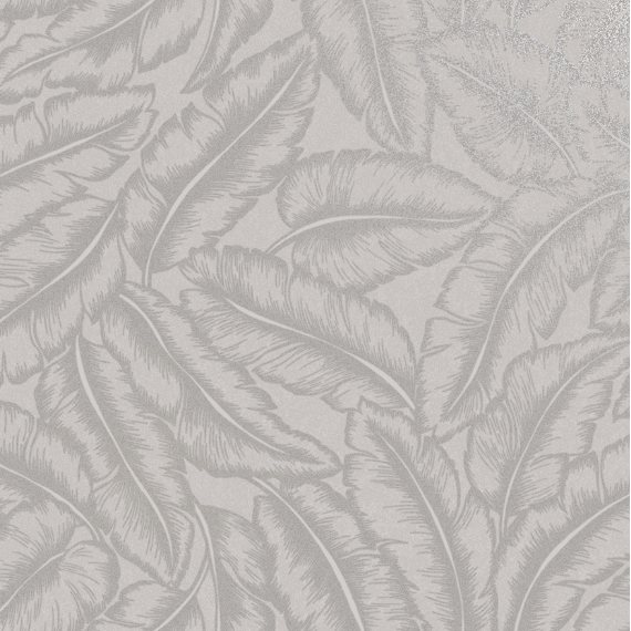 Looking for dining room ideas is not easy. However this soft grey leaf wallpaper gives a satin feel to add design and style to any wall.