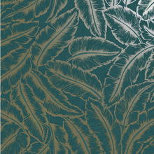 Elgin Teal Gold Wallpaper - Bakau
