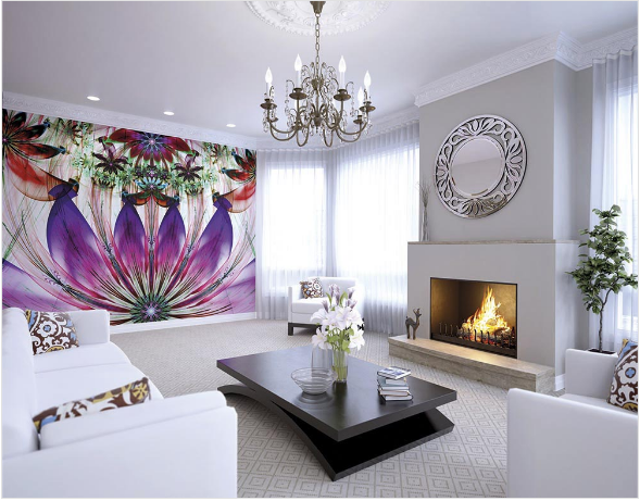 Fuschia fancify wall mural