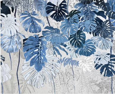 Tropical Palm Print Blue GM190305 -10