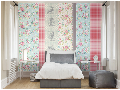 Gingham fancify wall mural