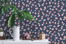 This navy, pink, and white leopard animal parint wallpaper is the epitomy of the perfect girly animal print wallpapers design!