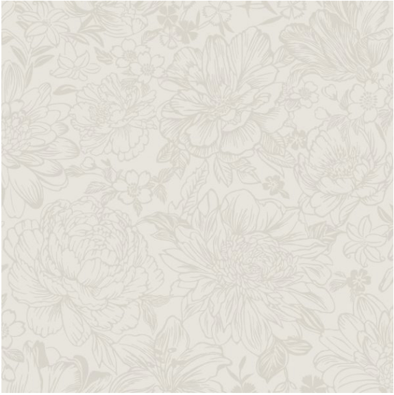 Floral Patterned design in cream and white