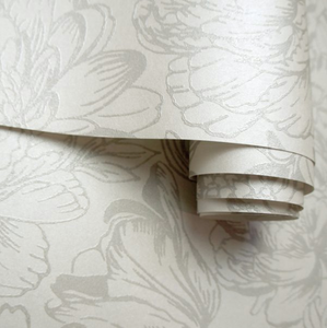 Floral Patterned Rollshot in cream